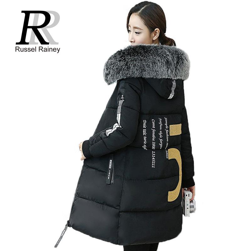 RR New Fashion Winter Jacket Women Padded Cotton Warm Long Winter Coats Female Faux Fur Collar Hood Coat Parka Womens Outwear(China (Mainland))