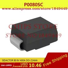 Integrated Circuit P0080SC SIDACTOR BI 6V 400A DO-214AA 0080 P0080 1 - Chips Store store