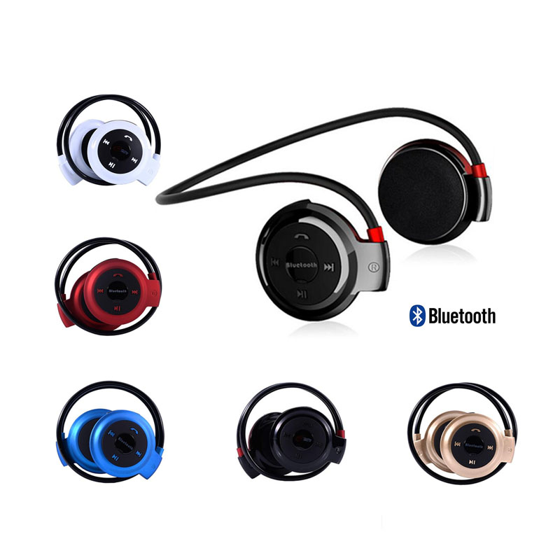 Smart Wireless Headset Bluetooth card motion movement double ear style mini folding stereo headset earplugs Free Shipping(China (Mainland))