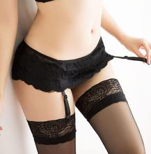 Women 4 Color Thongs Lace Stocking Suspender Sexy Lingeries Dual Layer Garter Belts(China (Mainland))