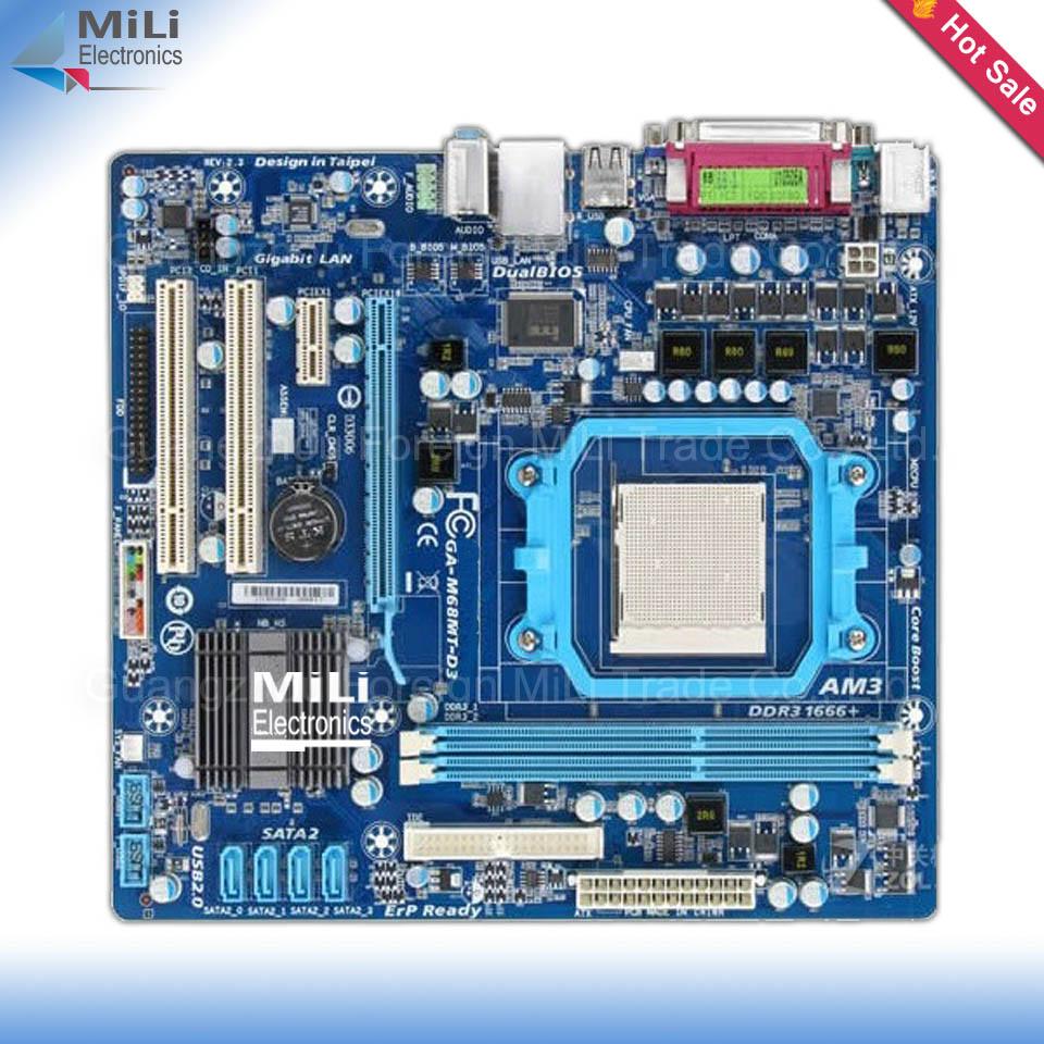 Здесь можно купить  For Gigabyte GA-M68MT-D3 Original Used Desktop Motherboard For NVIDIA nForce 7025-  Socket AM3 DDR3 On Sale  Компьютер & сеть