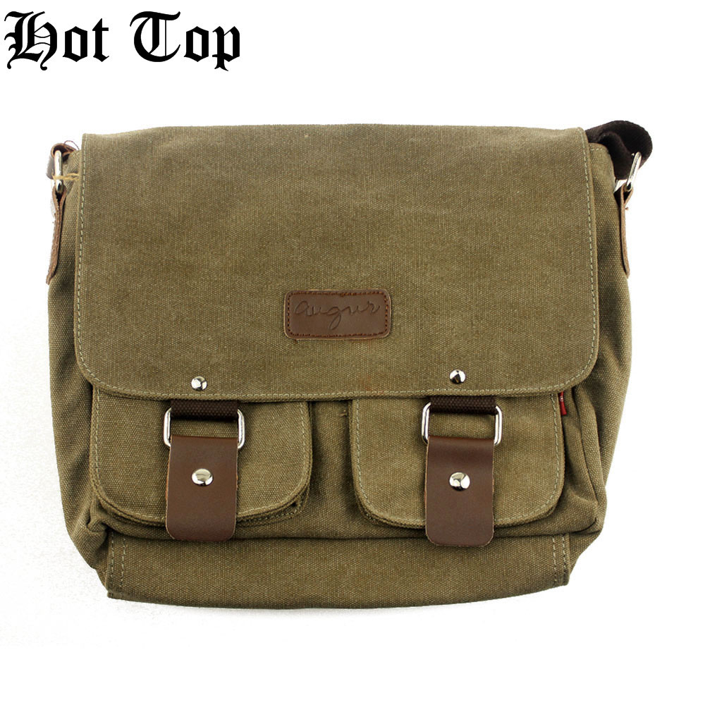HotTop 100% New Brand Pro Canvas Handbags Fashion For Men, Classic Outdoor Canvas Shoulder Bag Casual Travel Hiking Military Bag(China (Mainland))