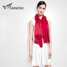 [VIANOSI] 100% Silk Scarf Women Luxury Solid Soft Shawls and Scarves Brand Large Foulard femme Fashion Accessories VA017(China (Mainland))