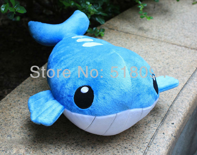 Plush Stuffed Animals Hot Sale Pokemon Costume Wailord Plush Anime Plush toys 35cmDolls New Year Gifts for kids Free Shipping(China (Mainland))