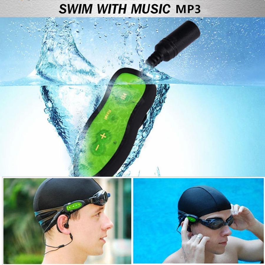 Swim MP3 Player Waterproof 2016 NEW Swim Headphones MP3 Player Music Media Players Diving Water Chip Sport MP3 Player(China (Mainland))