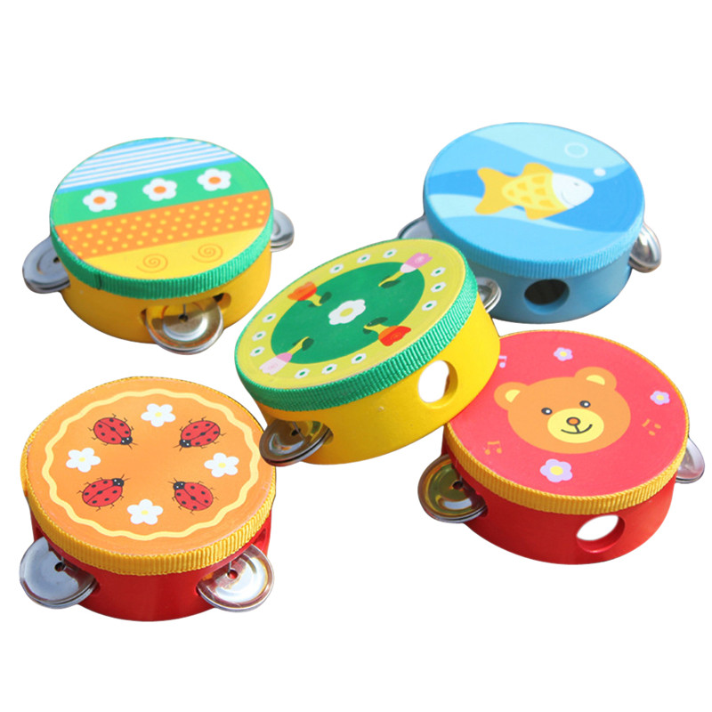 BS#S New Brand Baby toys Kids Music Educational Toy Musical Cartoon Musical Tambourine Beat Instrument Hand Drum Baby Toys(China (Mainland))