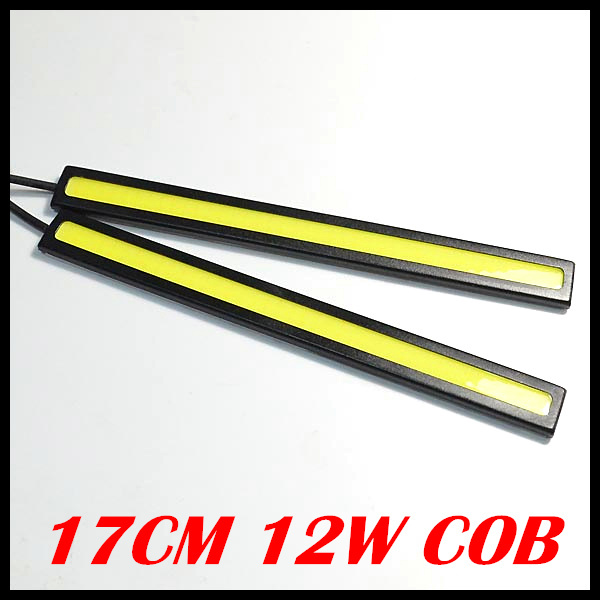 1 pair Ultra-thin 12W COB Chip New update 40LED Daytime Running Light 100% Waterproof LED DRL Fog car lights - Car Center store
