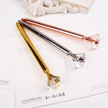 3 Color New Diamonds Diamond Metal Ball-Point Pen High-Quality Fashion Business Pen Friend'S Gift(China (Mainland))