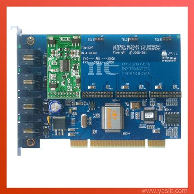 TDM400P 4 Ports with 1FXS modules  Asterisk card for VoIP IP PBX