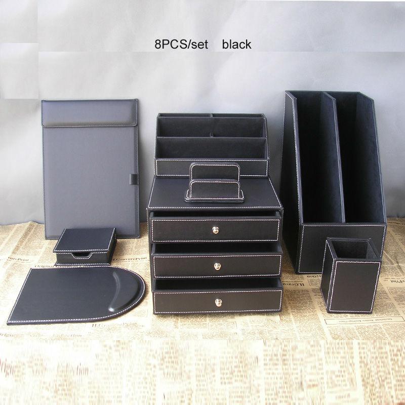 Popular desk file drawer buy cheap desk file drawer lots - Leather desk organizer set ...