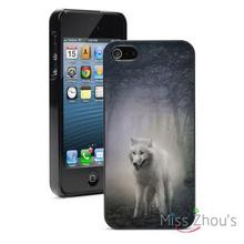 White Wolf Twilight Forest Protector back skins mobile cellphone cases for iphone 4/4s 5/5s 5c SE 6/6s plus ipod touch 4/5/6