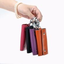 neue designer mode aus echtem leder unisex schlüsselhalter solide casual stil schlüssel fall echtem leder brieftasche schlüssel versandkostenfrei(China (Mainland))