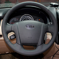 Hand stitched Black Leather Steering Wheel Cover for Kia Sportage 2 2005 2010 2009 Sportage