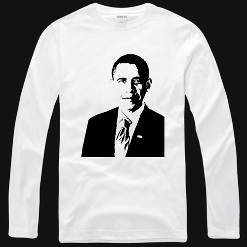 product Shirt obama t-shirt long-sleeve limited edition men's clothing