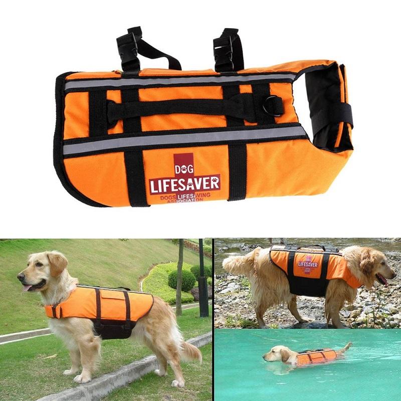 Pet Dog Out Sport Swimming Training Float Life Jacket Life Vest Aquatic Safety Swimming Clothing Suit Boating Life Jacket(China (Mainland))
