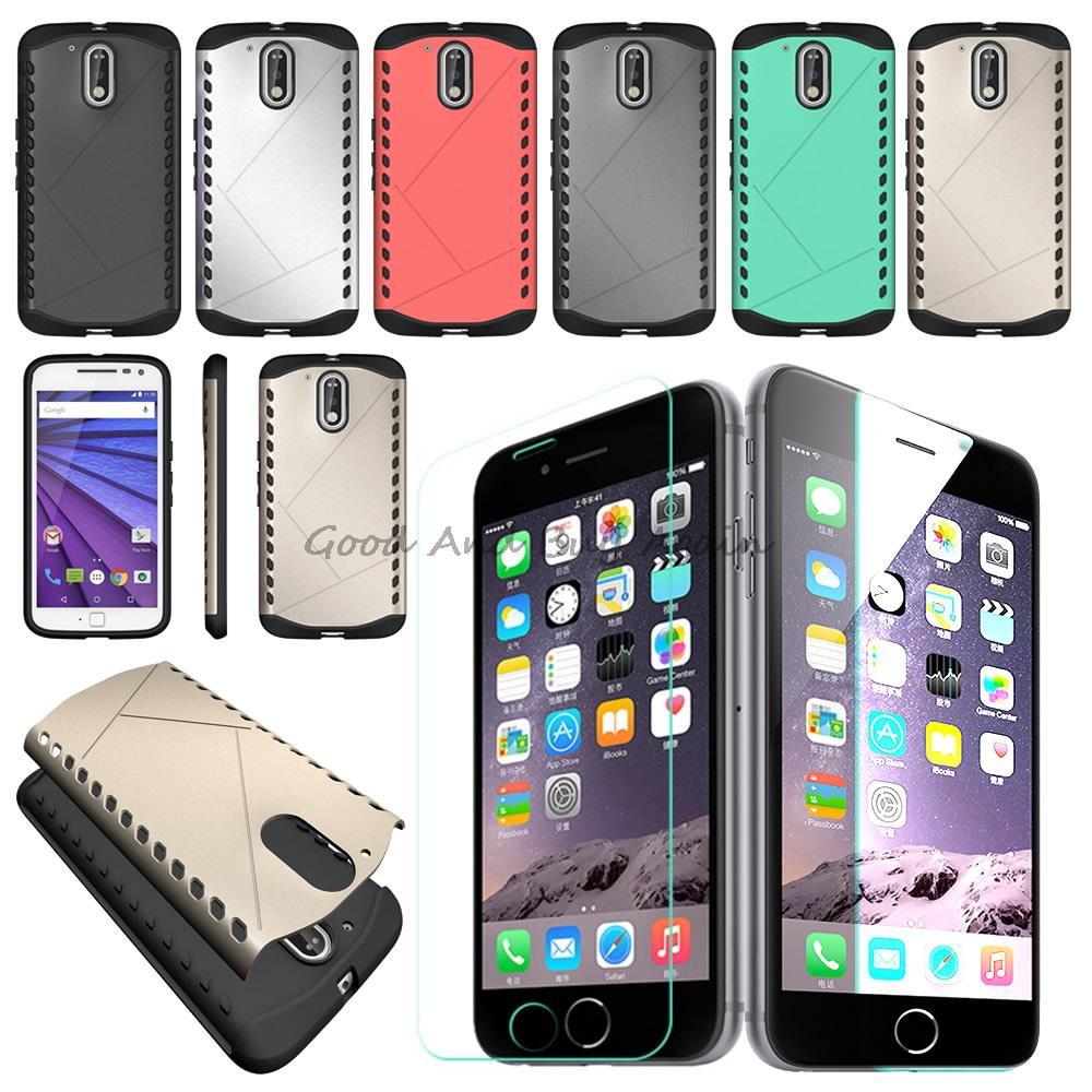 For Motorola Moto G4 G4 Plus Luxury Case Cover Anti Shock Tempered Armor PC brushed Screen Glass Cross Spider Silicone(China (Mainland))