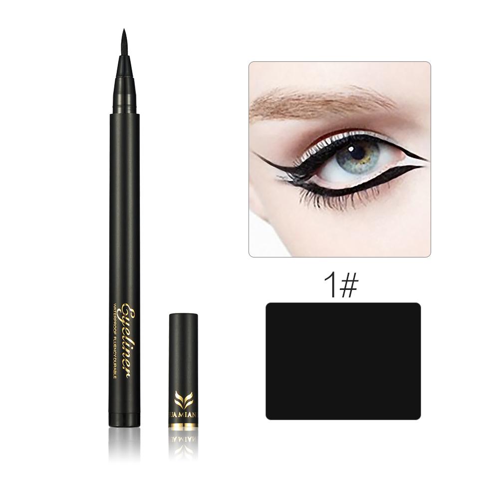 Professional Quick-dry Black Brown Liquid Eyeliner Pen Waterproof Smudge-Proof Silky Eye liner Pencil For Girl Cosmetic Makeup