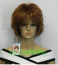 2012 NEW brown short straight full wig(China (Mainland))