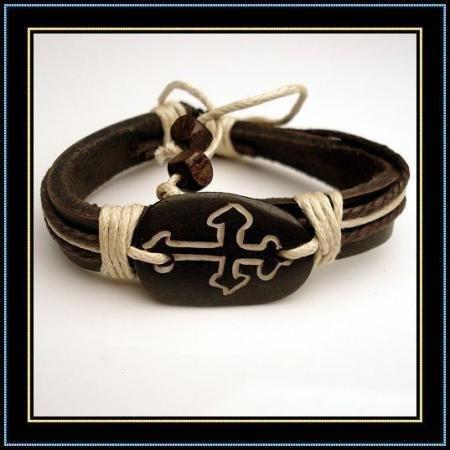 Italy Tibet ox bone sculpture cross symbol bracelets freedom
