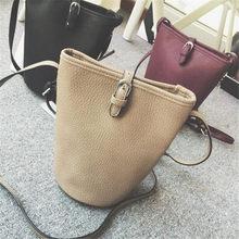 Винтажный стиль мода PU ведерко женщины шнурок кросс-тела сумку свободного покроя сумка Stachels бумажник Bolso