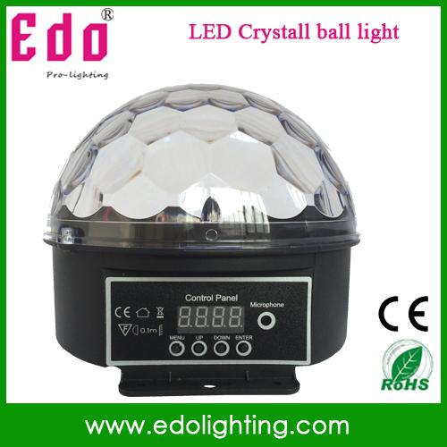 Free Shipping Newest Digital LED RGB Crystal Magic Ball Effect Light DMX Disco DJ Stage Lighting Lamp(China (Mainland))