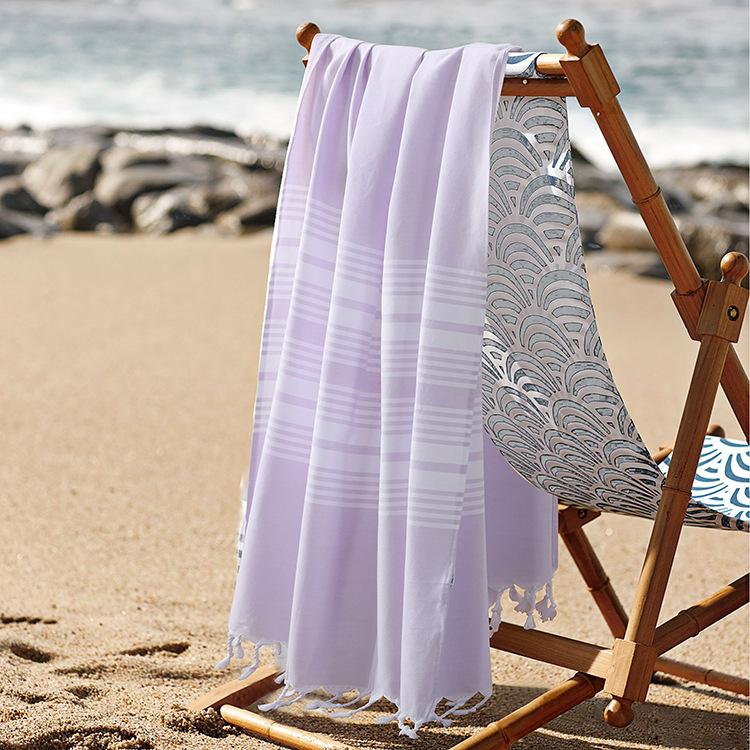 2016 New 100% Cotton Turkish Bath Towel for Adult Striped Beach Towel toalla playa Plain Towels 75*140cm(China (Mainland))