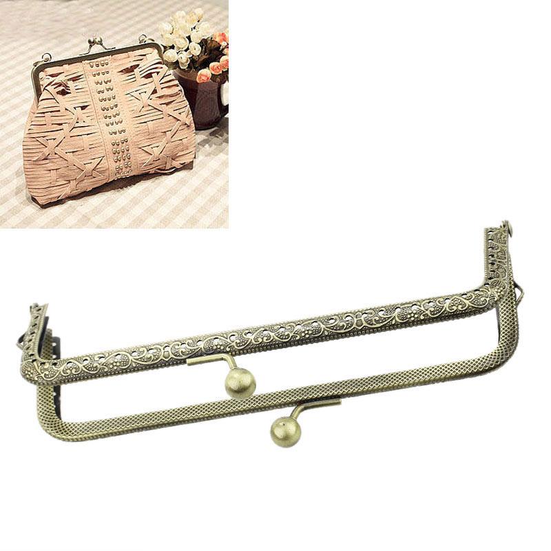Горячая распродажа 3 шт. металл сумка кошелек кошелек рамка поцелуй застежка блокировки бронзовый тон 15.5 см x 7 см b31734 ( более $115 бесплатный экспресс )