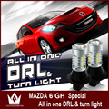 Night Lord For Mazda 6GH led drl turnlight 20W 20smd White Amber led Daytime Running Lights