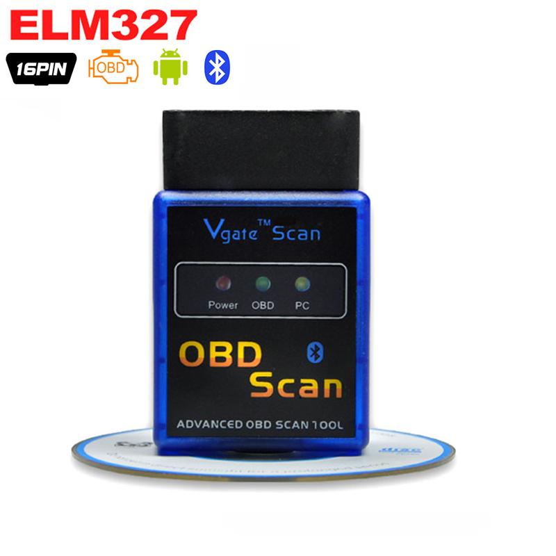 OBD2 ELM327 Bluetooth V2.1 Car-detector ELM 327 Diagnostic-tool OBD OBD 2 for volvo Auto Scanner Adapter Diagnostic Tool(China (Mainland))