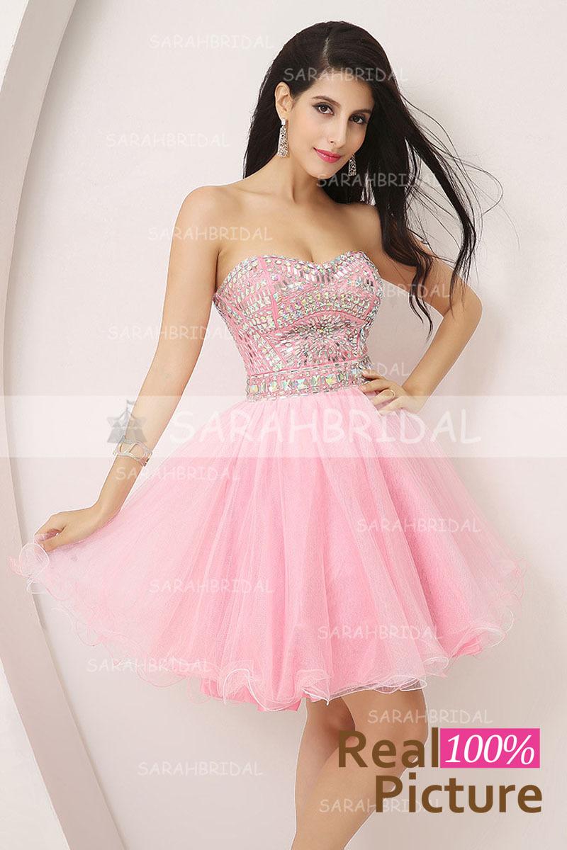 Short Pink Party Dresses 23