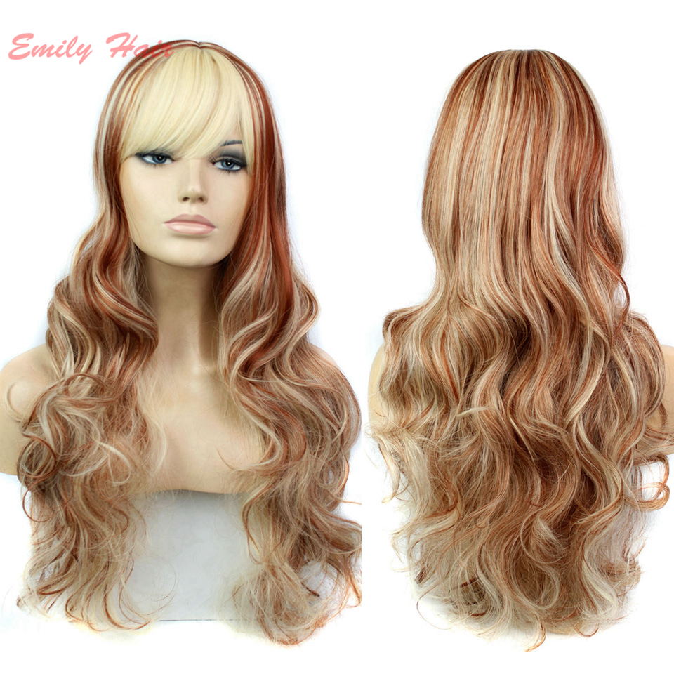 New fashion hairstyle Long Wavy Hair Wig synthetic full wigs cheap Heat Resistant ms female Wig for African American Black Women<br><br>Aliexpress