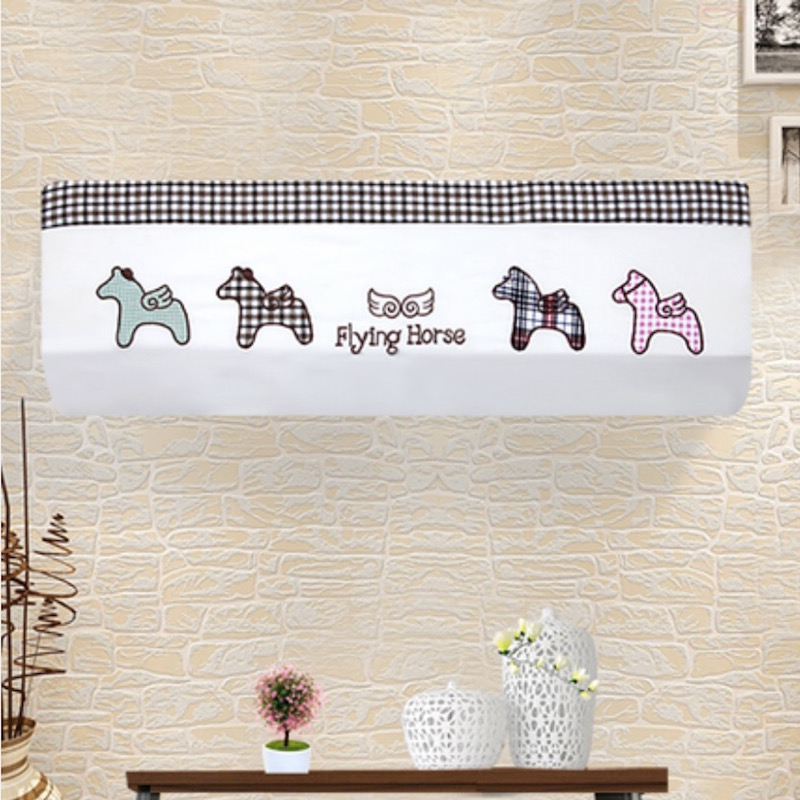 Indoor 1.5p Wall Mounted Air Conditioner Dust Cover Decoration Hood Embroidery 80x20 / 86x20 / 92x18cm Houses(China (Mainland))