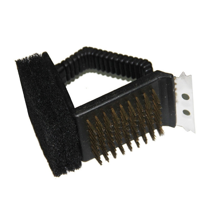 Worldwide top sale Multifunction BBQ Grill Cleaning Brush Steel Wire plastic sponge brush barbecue tool(China (Mainland))