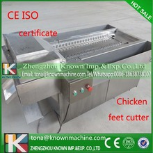 25 years experience domestic full-automatic frozen chicken claw cutting machine CFR prce for sale shipping by sae(China (Mainland))