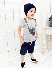 Hot Selling Boys Kids Cartoon Round Neck Short Sleeve T shirt Children s Clothes