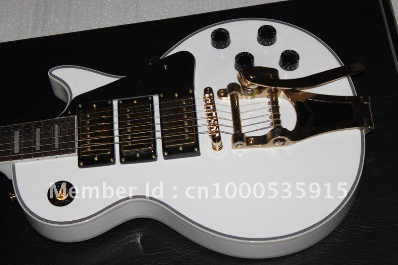 G Custom 1957 Custom 3 Pickup with Bigsby VOS Electric Guitar white 431(China (Mainland))