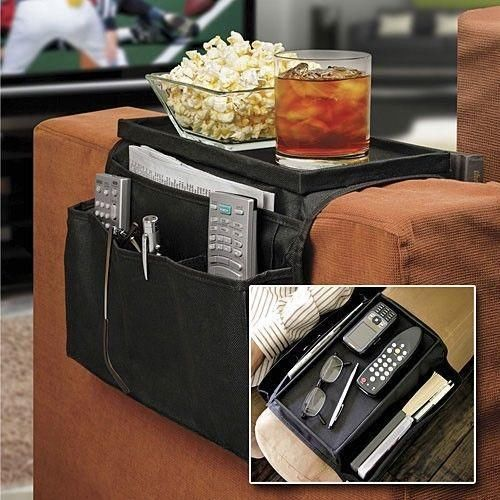 New High quality 6 Pockets Sofa/couch handrail Couch armrest Arm Rest Organizer Remote Control Holder bag On TV Sofa storage bag(China (Mainland))