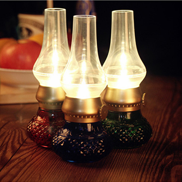Retro Blow LED Lamp USB Rechargeable Blowing Kerosene LED Candle Lamp Adjustable Night Light 2015 Hot<br><br>Aliexpress