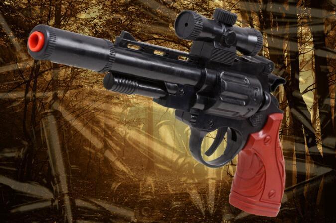 Explosion models children's toys, night vision simulation soft gun revolver selling toys military model(China (Mainland))