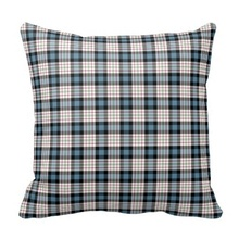 Curly Clan Ferguson Dress Blue Tartan Throw Pillow Case (Size: 20″ by 20″) Free Shipping