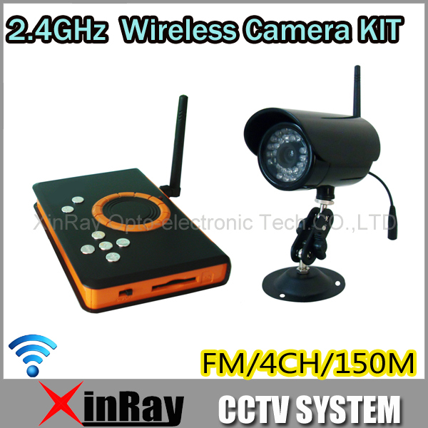 2.4GHz Waterproof IR LED Night Vision Camera Wireless Receiver H.264 SD Card Storage CCTV Camera DVR KIT, ZJ128DR(China (Mainland))