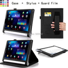 For Lenovo Yoga Tablet 2 10 inch Tablet 1050F/1051 Leather Stand Folio Case Cover (Elastic Hand Strap, Multi-Angle, Card Holder)