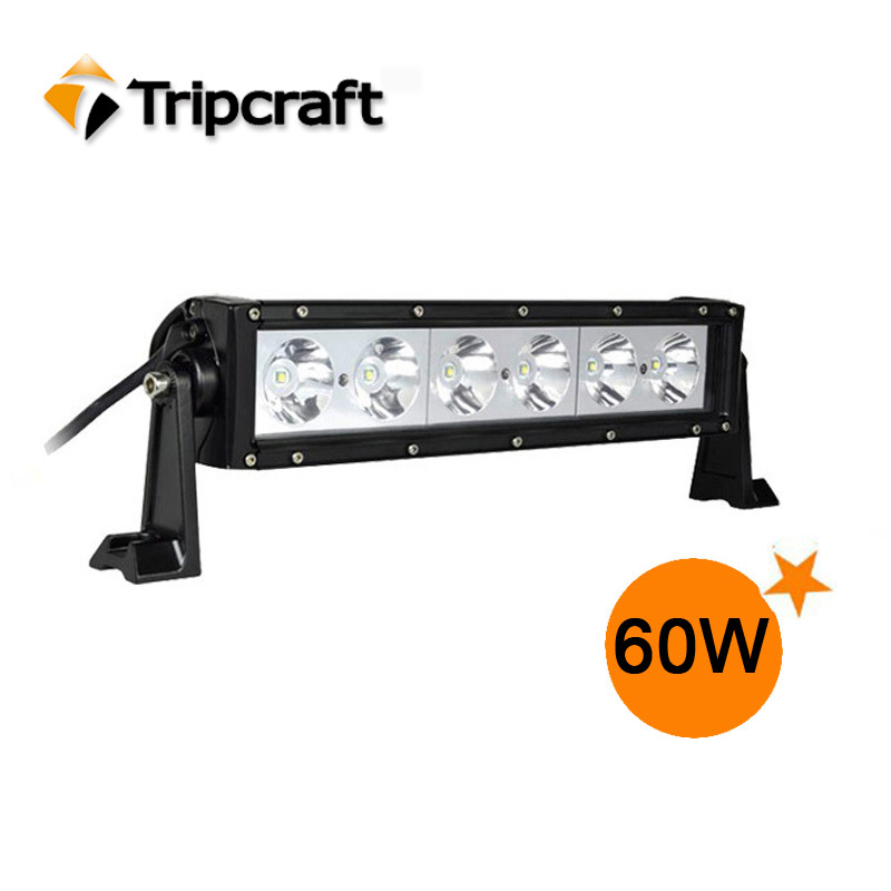 Фотография 60W 20 x 3W LED Work Light High Power working light lamp Bar 12V 24V Spot & Flood combo beam White 6000K