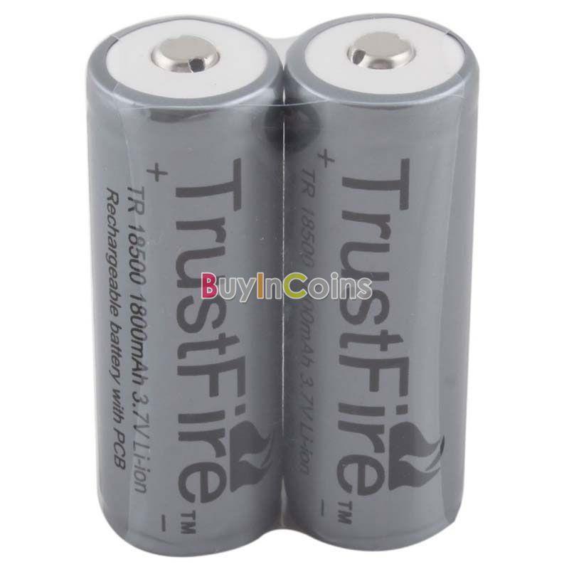 Аккумулятор Oem 2 X 3.7V TrustFire tF 18500 1800mAh #26681 аккумулятор trustfire 2 18350 700mah 3 7v