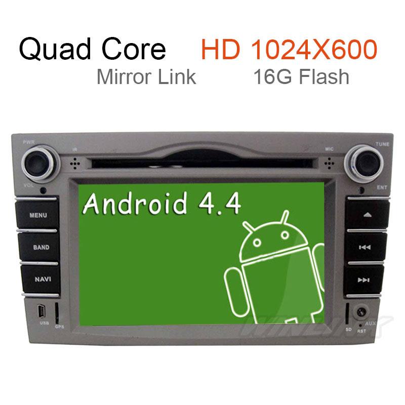 Quad Core 1024*600 Car DVD For Opel Astra 2007 2008 2009 Android 4.4.4 Vectra Corsa Meriva Zafira GPS Navi Radio Built-in WiFi(China (Mainland))