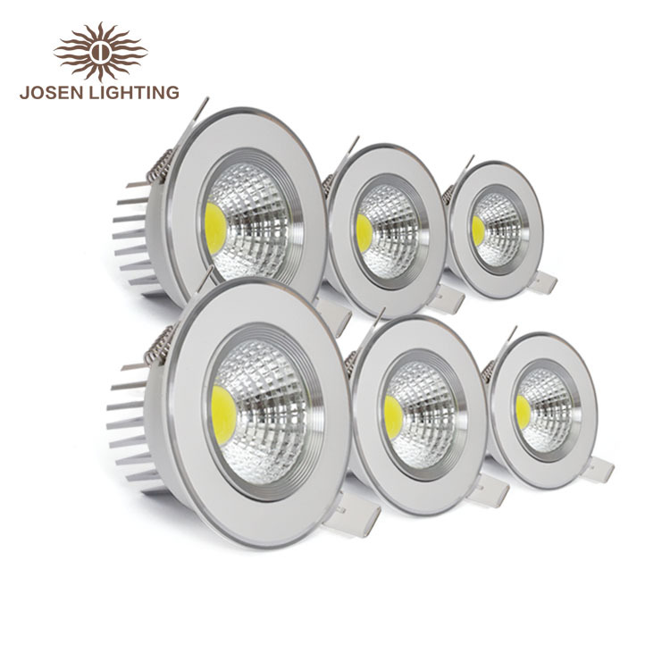 2015 New arrival Hot sale led downlight genuine aluminum material cob downlight with high quality led bulb 30000hours 3w 5w 7w 9(China (Mainland))