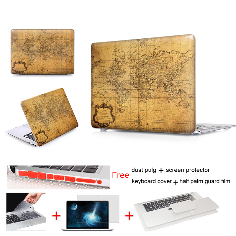"""Map Of The World 1778 Hard Plastic Laptop Case Shell + Keyboard Cover For Mac Book Pro 13 Case 13"""" Inch Case For Laptop Cover(China (Mainland))"""