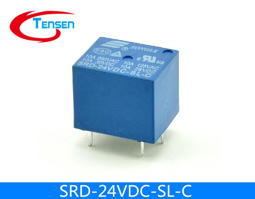100Pcs/Lot 24V DC SONGLE Power Relay T73-24V SRD-24VDC-SL-C PCB Type<br><br>Aliexpress