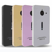 Ultra thin Aluminum Metal+ Non-slip frosted Back Cover Case for Microsoft Nokia Lumia 640 XL(China (Mainland))