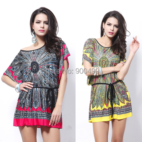 Boho Clothing For Plus Size Women Novelty boho print dresses